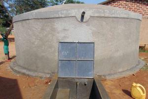 The Water Project: Lwanga Itulubini Primary School -  Completed Rain Tank