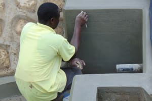 The Water Project: Ikonyero Community, Amkongo Spring -  Inscribing The Spring