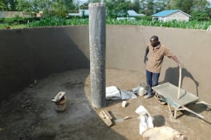 The Water Project: Kimangeti Primary School -  Completed Inner Pillar