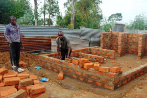 The Water Project: Friends Primary School Givogi -  Latrine Walls Going Up