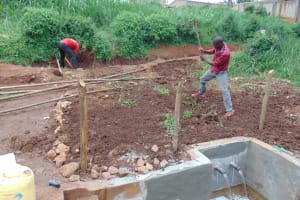 The Water Project: Lutonyi Community, Lutomia Spring -  Soil Backfilling