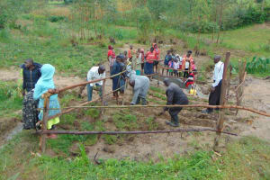 The Water Project: Sasala Community, Kasit Spring -  Grass Planting