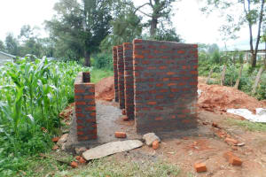 The Water Project: Kimangeti Primary School -  Latrine Walls
