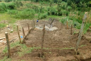 The Water Project: Ikonyero Community, Amkongo Spring -  Fencing Around Spring Box
