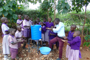 The Water Project: Magaka Primary School -  Handwashing Demonstration
