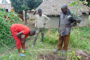 The Water Project: Sasala Community, Kasit Spring -  Sanitation Platform Measurements