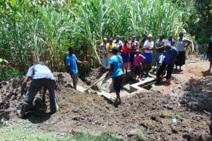 The Water Project: Buyangu Community, Osundwa Spring -  Grass Planting