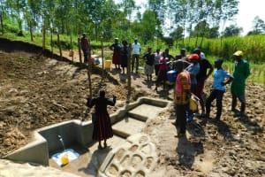 The Water Project: Ikonyero Community, Amkongo Spring -  Site Management Training