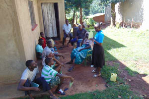 The Water Project: Lutonyi Community, Lutomia Spring -  Tippy Tap Training
