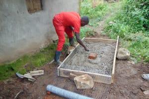 The Water Project: Sasala Community, Kasit Spring -  Sanitation Platform Construction