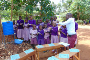 The Water Project: Magaka Primary School -  Handwashing Practice
