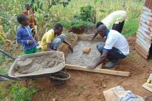 The Water Project: Shihungu Community, Shihungu Spring -  Sanitation Platform Construction