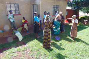 The Water Project: Lutonyi Community, Lutomia Spring -  Handwashing Practice
