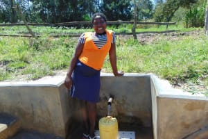 The Water Project: Luyeshe Community, Matolo Spring -  Yvonne Evayo