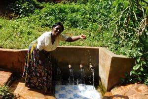 The Water Project: Shirakala Community, Ambani Spring -  Rhoda Sakwa At The Spring