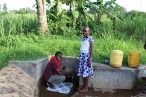 The Water Project:  Field Officer Ian Nakitare With Lucy