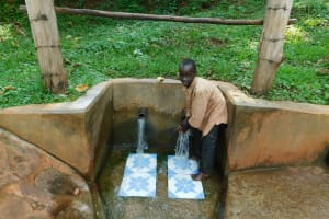 The Water Project: Irumbi Community, Okang'a Spring -  Bravin Obama At The Spring