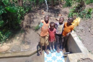 The Water Project: Matsakha Community, Siseche Spring -  Kids Play With Spring Water