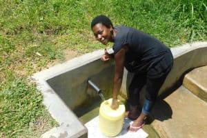 The Water Project: Chegulo Community, Werabunuka Spring -  Margret Obembo Water Committee Treasurer
