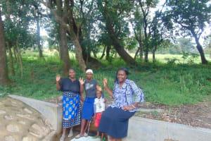 The Water Project: Lunyi Community, Fedha Mukhwana Spring -  Mama Judith Cherono Rutoh And Field Officer Karen Maruti