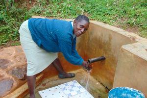 The Water Project: Chepnonochi Community, Chepnonochi Spring -  Christine Aswani