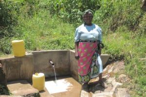 The Water Project: Emasera Community, Visenda Spring -  Violet Nabwanya At The Spring