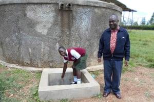 The Water Project: Kaimosi Demonstration Secondary School -  Cynthia And Principal Patrick Amalemba