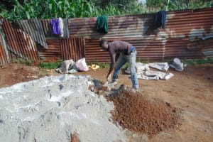 The Water Project: Magaka Primary School -  Mixing Cement