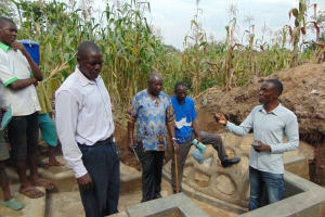 The Water Project: Shihungu Community, Shihungu Spring -  Understanding The Construction Process