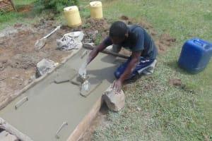 The Water Project: Buyangu Community, Osundwa Spring -  Sanitation Platform Construction