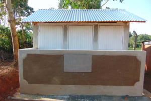 The Water Project: Magaka Primary School -  Completed Latrines