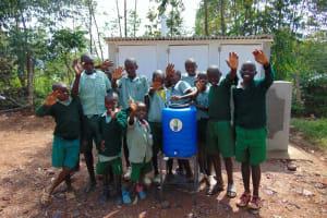 The Water Project: Lwanga Itulubini Primary School -  Boys With Their Handwashing Station