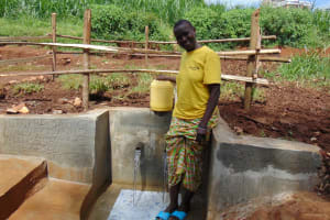 The Water Project: Lutonyi Community, Lutomia Spring -  Smiling At The Spring