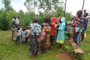 The Water Project: Sasala Community, Kasit Spring -  Attentive Participants