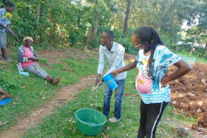 The Water Project: Shihungu Community, Shihungu Spring -  Handwashing Demonstration