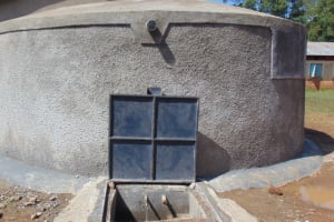 The Water Project: Kimangeti Primary School -  Completed Rain Tank