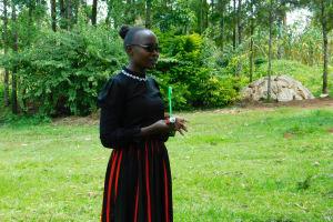 The Water Project: Ikonyero Community, Amkongo Spring -  Field Officer Joan Were Leads Dental Hygiene Session