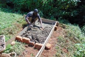 The Water Project: Lutonyi Community, Lutomia Spring -  Sanitation Platform Construction