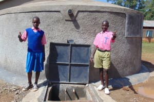 The Water Project: Kimangeti Primary School -  Thumbs Up For Clean Water