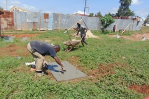 The Water Project: Lutonyi Community, Lutomia Spring -  Finishing A Sanitation Platform