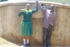 The Water Project: Madegwa Primary School -  Charity With Deputy Head Teacher Allan Lukao