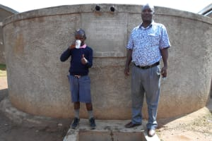 The Water Project: Friends Kaimosi Demonstration Primary School -  Mr John Musalia With Isaac