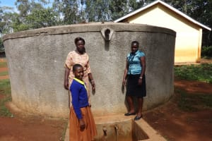 The Water Project: Shihalia Primary School -  Joan With Deputy Head Teacher Eunice Khatunyi And Field Officer Mary