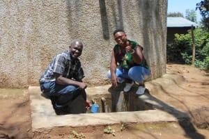 The Water Project: Eshisenye Primary School -  Mr Chibole With Field Officer Jacklyne Chelagat