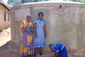 The Water Project: Matsigulu Primary School -  Field Officer Rose Serete With Mrs Andare And Marion