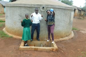 The Water Project: Imbale Primary School -  Eunice With Mr Livondo And Jacklyne