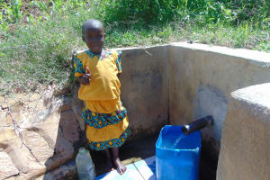 The Water Project: Musango Community, Jared Lukoko Spring -  Young Girl At The Spring