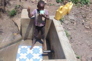 The Water Project: Matsakha Community, Siseche Spring -  Thumbs Up For Clean Drinking Water