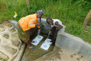 The Water Project: Muyundi Community, Ngalame Spring -  Alice And Edwin