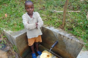The Water Project: Ematetie Community, Chibusia Spring -  Goddard Filling Up